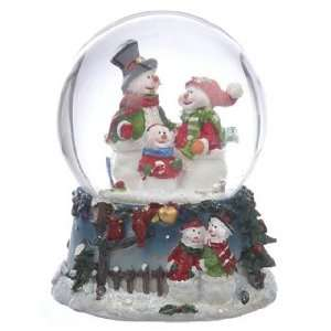 Personalized Small Snowman Snow Globe   Family Christmas