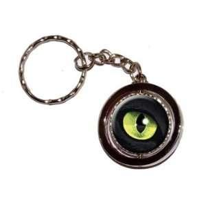 Cat Green Eye   New Keychain Ring Automotive