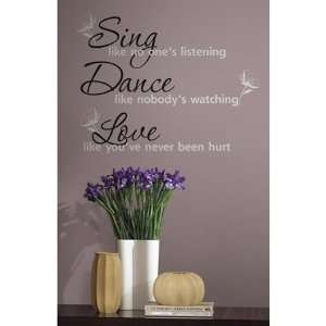 Sing, Dance, Love Wall Decals in RoomMates
