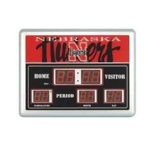 University of Nebraska Huskers Lg Scoreboard Clock Sports