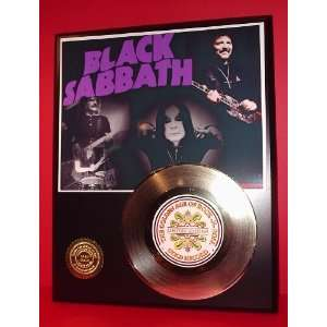 Gold Record Outlet Black Sabbath 24kt Gold Record Display