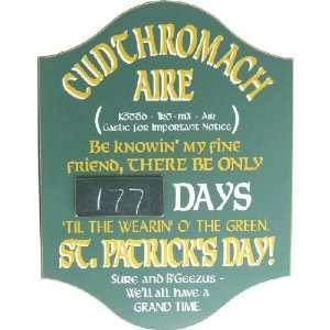 St. Patricks Day Countdown Sign