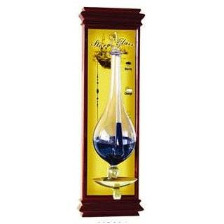 Weather WS YG634 Antique Storm Glass Barometer with Cherry Wood Frame