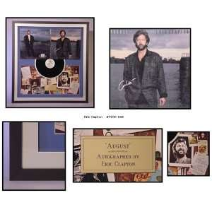 Eric Clapton Autographed/Hand Signed Album Cover August