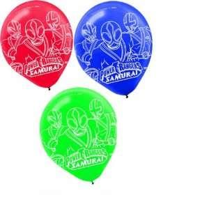 6 ct   Power Rangers Samurai Force Party Balloons Health