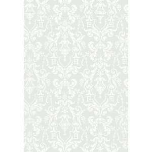 Lido Damask Haze by F Schumacher Wallpaper