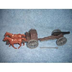 Classic Toy Soldiers American Civil War Limber and Cannon