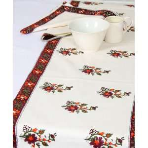 Table Runner; Hand Printed Table Linen; Size 180cm x 35cm Kitchen
