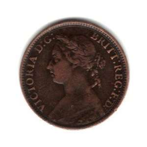 1894 UK Great Britain England Farthing Coin KM#753   Queen