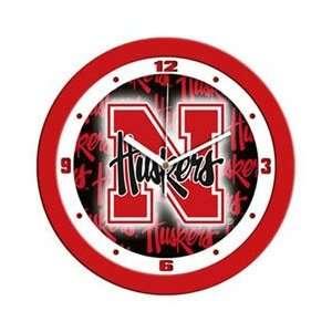University of Nebraska Cornhuskers NCAA Wall Clock