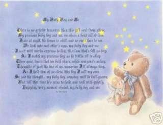 GOD CREATED BABY BOY POEM PERSONALIZED ANGEL PRINT NAME