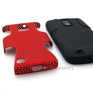 Red Black APEX Dual Layer Gel Hard Case Samsung Galaxy S2 Hercules