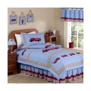 Fire Truck 3 Piece Full / Queen Comforter Set   Boys Bedding