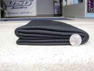 Speaker Grill Cloth  Black Dbl Knit 36x66 cuts  NICE