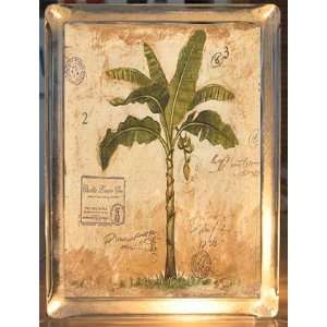 Palm Tree Tropical Decor Decorative Glass Block Accent