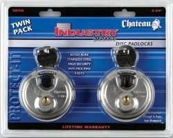 Stainless Steel Disc Locks 2 3/4 (Key Alike) 184255000012