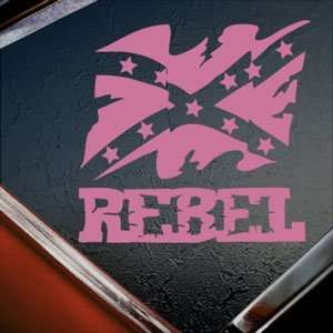 Rebel Flag Pink Decal Truck Bumper Window Vinyl Pink Sticker