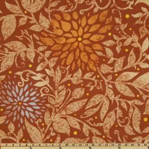 Conni Viviana Floral Pumpkin Fabric By The Yard Arts, Crafts & Sewing