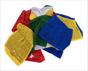 Tibetan Export Quality Cotton Prayer Flag Roll PF01 B