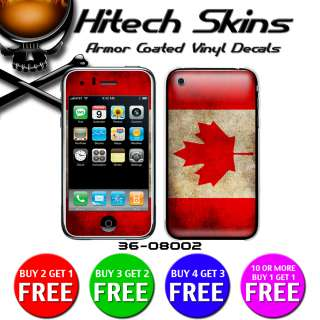 Iphone 3G/3GS Skin w/armor   CANADIAN FLAG