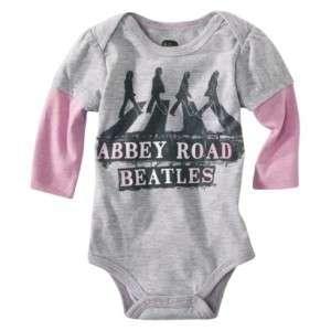 THE BEATLES Abbey Road Newborn Baby Infant Girls Onesie Bodysuit in