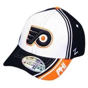 NHL PHILADELPHIA FLYERS WHITE FLEX FIT SM SMALL HAT CAP