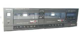 Technics Stereo Double Dual Cassette Deck Player RS T130