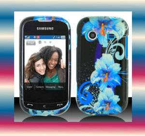 Blue.Flr Samsung Character SCH R640 Faceplate Snap on Phone Cover Hard