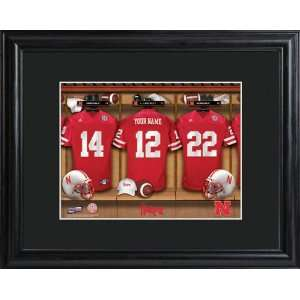 Personalized Nebraska Cornhuskers Locker Room Print