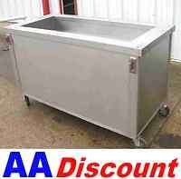 USED 62 STAINLESS STEEL COLD BUFFET CABINET BY SERVOLIFT SALAD BAR