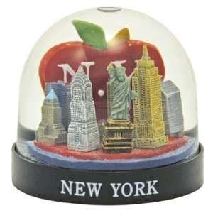 New York Big Apple Snow Globe