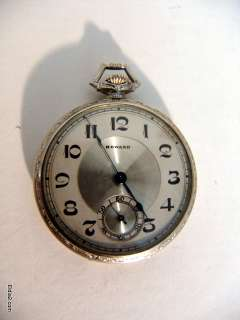 Antique Howard 14k White Gold Pocket Watch