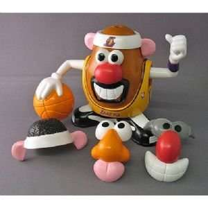 Los Angeles Lakers NBA Sports Spuds Mr. Potato Head Toy