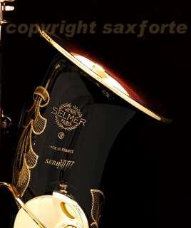 SELMER (PARIS) SERIE III BLACK LACQUERED ENGRAVED ALTO SAXOPHONE SAX