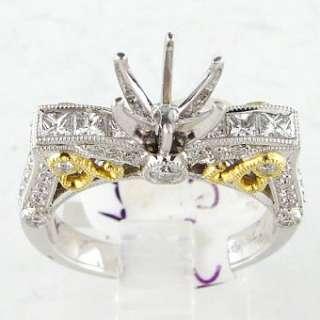 CT Diamond Ladies Ring Mounting 18k Two Tone Gold