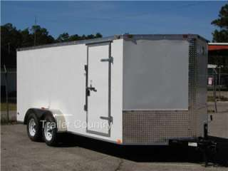 NEW 2012 Elite Series 7 x 14 V Nose Enclosed Cargo Trailer w/Ramp