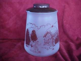 Vintage Pokee Hansel & Gretel Frosted Glass Cookie Jar