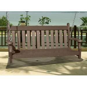 Outdoor Recycled Plastic Swing Patio, Lawn & Garden