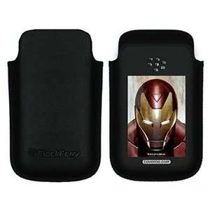 Iron Man Closeup on BlackBerry Leather Pocket Case