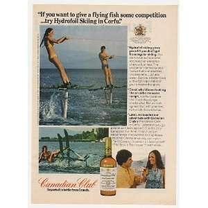 1974 Hydrofoil Skiing in Corfu Canadian Club Whisky Print