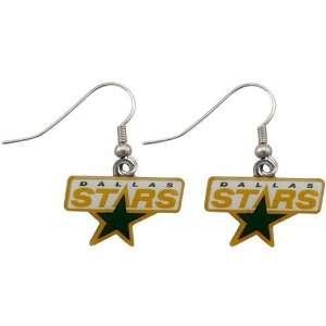 Dallas Stars   NHL Team Logo Dangler Earrings Sports