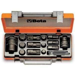 Beta 727/C16 Assortment of 6 Hexagon Bits, 6 Torx Bits, 16/22mm Drive