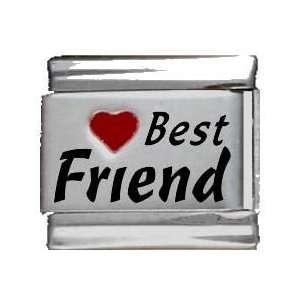 Heart Best Friend Red Heart Laser Italian Charm Jewelry