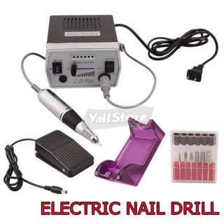 Electric Nail Art Drill Manicure Machine + Foot Pedal