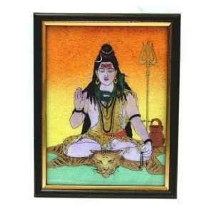 Lord Shiva Gem Stone Painting Photo Frame