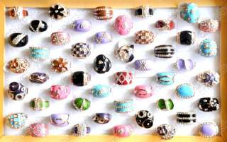 Wholesale Jewelry Lots Crystal Enamel glaze Gold P Rings Sizes 7 8 9