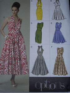 LADIES BEAUTIFUL MARILYN MONROE STYLE HALTER DRESS PATTERN 6 20uc