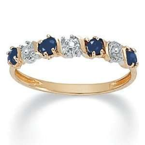 Jewelry 10k Gold Blue Sapphire & Diamond Accent Ring Jewelry