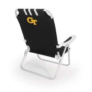 Georgia Tech Yellow Jackets Monaco Beach Chair (Black)