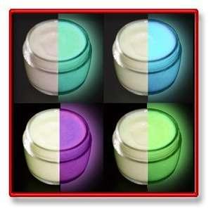4 Col Set Glow in the Dark Aqua, Green, Blue, Lilac Paint